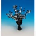 50th Birthday Party Foil Spray Centrepiece - Black & Silver