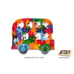 Wooden Jigsaw - Alaphabet Bus