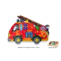 Wooden Jigsaw - Fire Engine