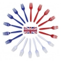 Red/white and Blue Forks - 18/PKG
