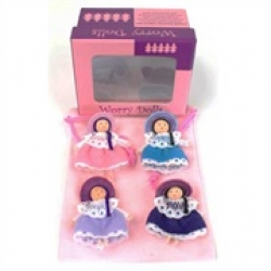 Boxed 4pcs Worry Doll Set