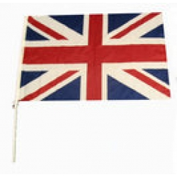 Great Britain Flag on Plastic Stick