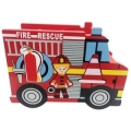 Fire Engine Shape Sorter | Tiddlytots Wooden Shapes