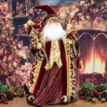 Luxury Burgundy Santa Claus figure/tree topper 2ft