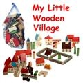 Wooden Village Set