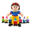 Snow White & Seven Dwarfs Hand & Finger Puppet Set