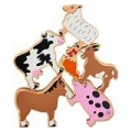 FArm Animals in a bag ( set of 6)