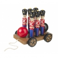 Soldier Skittles on wheels (pull along)