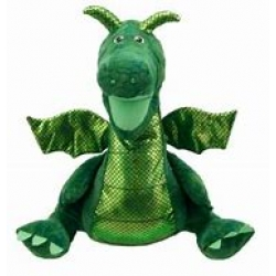 Enchanted Green Dragon Hand Puppet