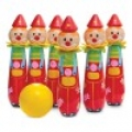 Wooden Bowling Clowns