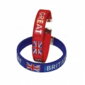 Great Britain Fabric Bracelets - 2 Pack
