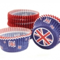 Great Britain Cupcake Cases - 50 Packs